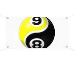 8 Ball 9 Ball Yin Yang Banner