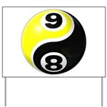 8 Ball 9 Ball Yin Yang Yard Sign