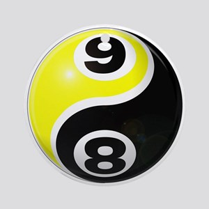 8 Ball 9 Ball Yin Yang Ornament (Round)