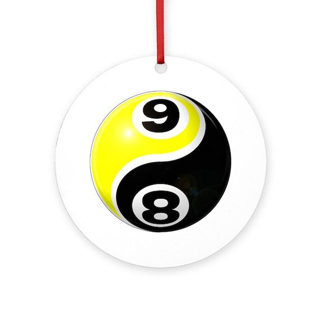8 Ball 9 Ball Yin Yang Ornament Round By 8ball9ballyinyang