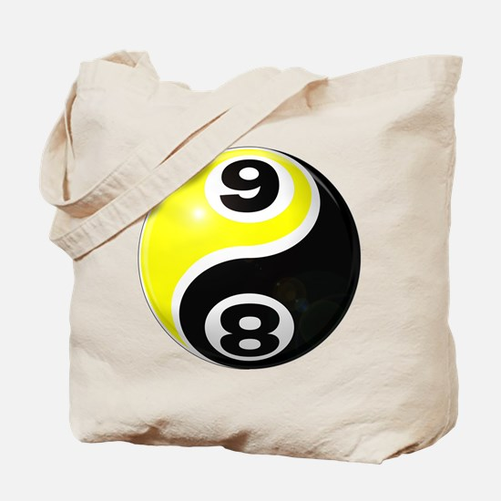 8 Ball 9 Ball Yin Yang Tote Bag