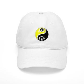 8 Ball 9 Ball Yin Yang Cap