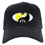 8 Ball 9 Ball Yin Yang Black Cap