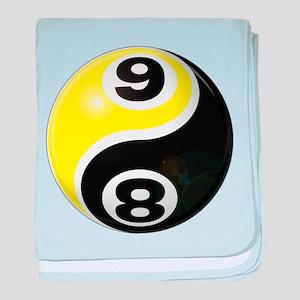 8 Ball 9 Ball Yin Yang baby blanket