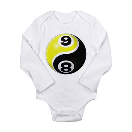 8 Ball 9 Ball Yin Yang Long Sleeve Infant Bodysuit
