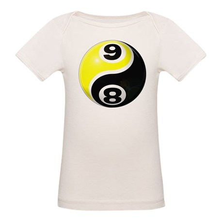8 Ball 9 Ball Yin Yang Organic Baby T-Shirt