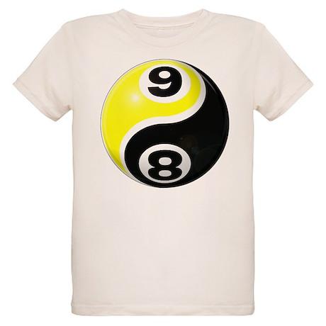 8 Ball 9 Ball Yin Yang Organic Kids T-Shirt