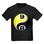8 Ball 9 Ball Yin Yang Kids Dark T-Shirt
