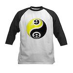 8 Ball 9 Ball Yin Yang Kids Baseball Jersey