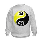 8 Ball 9 Ball Yin Yang Kids Sweatshirt