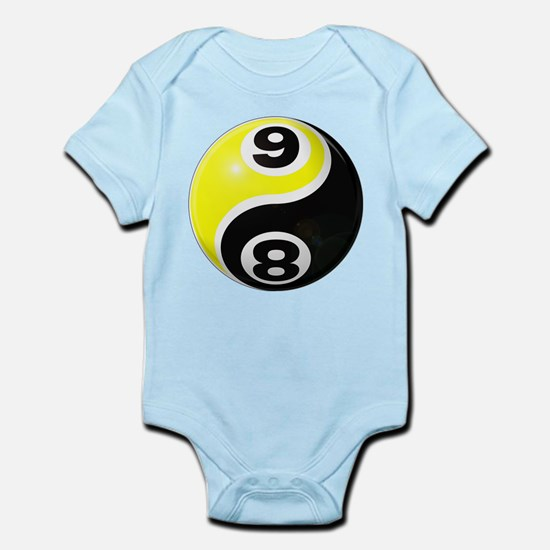 8 Ball 9 Ball Yin Yang Infant Bodysuit