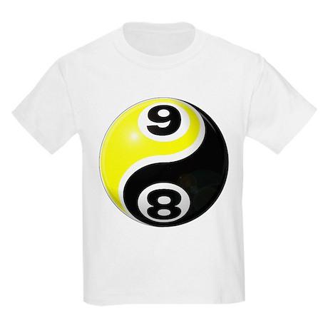 8 Ball 9 Ball Yin Yang Kids Light T-Shirt