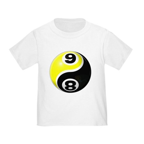 8 Ball 9 Ball Yin Yang Toddler T-Shirt