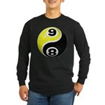8 Ball 9 Ball Yin Yang Long Sleeve Dark T-Shirt