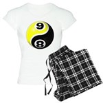 8 Ball 9 Ball Yin Yang Women's Light Pajamas