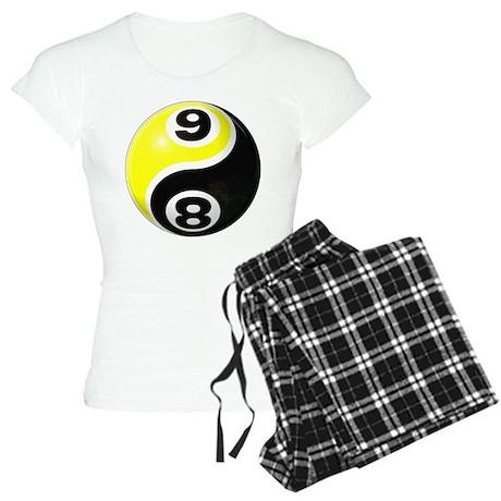 8 Ball 9 Ball Yin Yang Women's Light Pajamas