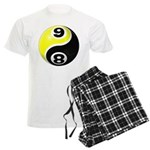 8 Ball 9 Ball Yin Yang Men's Light Pajamas