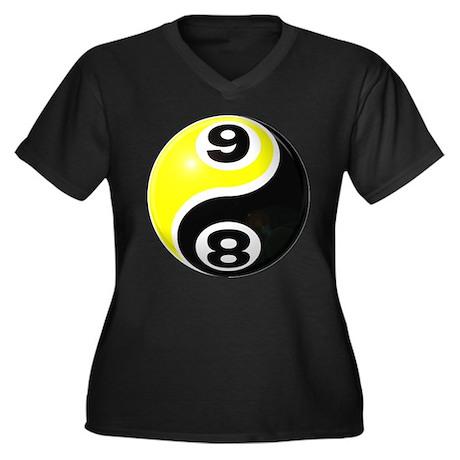8 Ball 9 Ball Yin Yang Women's Plus Size V-Neck Da