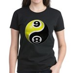 8 Ball 9 Ball Yin Yang Women's Dark T-Shirt