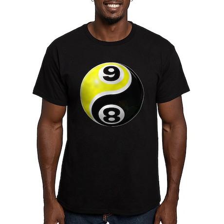 8 Ball 9 Ball Yin Yang Men's Fitted T-Shirt (dark)