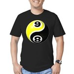 8 Ball 9 Ball Yin Yang Men's Fitted T-Shirt (dark)