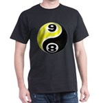 8 Ball 9 Ball Yin Yang Dark T-Shirt
