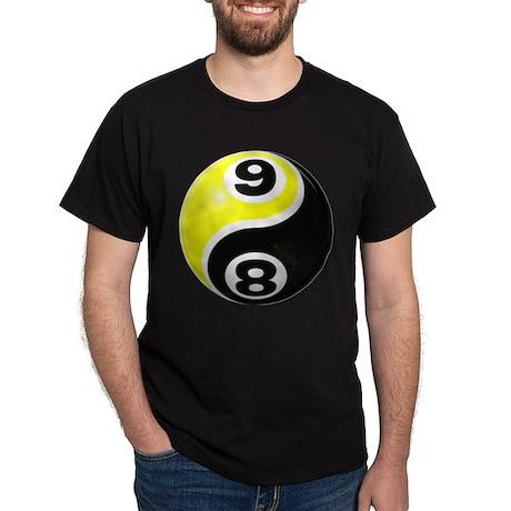 8 Ball 9 Ball Yin Yang Dark T-Shirt