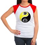 8 Ball 9 Ball Yin Yang Women's Cap Sleeve T-Shirt