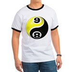 8 Ball 9 Ball Yin Yang Ringer T