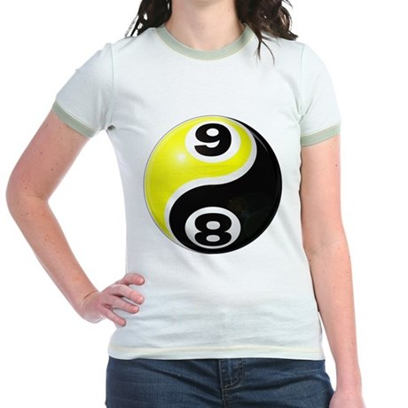 8 Ball 9 Ball Yin Yang Jr. Ringer T-Shirt