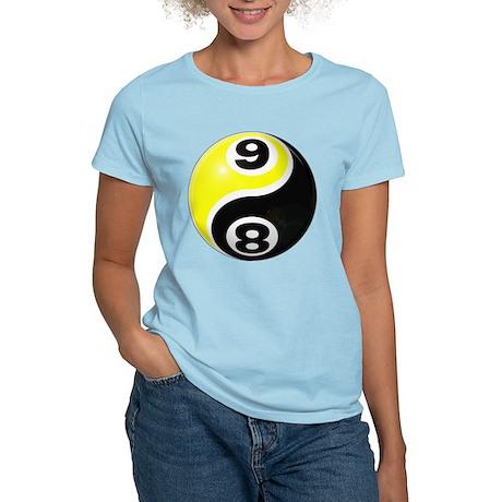 8 Ball 9 Ball Yin Yang Women's Light T-Shirt