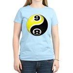 8 Ball 9 Ball Yin Yang Women's Light T-Shirt