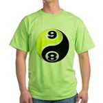 8 Ball 9 Ball Yin Yang Green T-Shirt