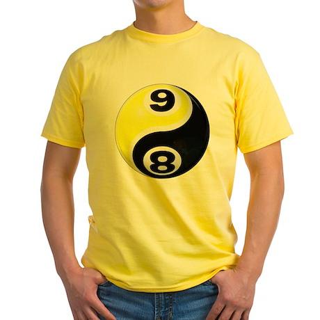 8 Ball 9 Ball Yin Yang Yellow T-Shirt