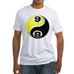 8 Ball 9 Ball Yin Yang Fitted T-Shirt