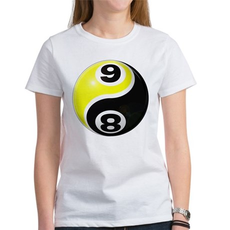 8 Ball 9 Ball Yin Yang Women's T-Shirt