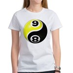 8 Ball 9 Ball Yin Yang Women's T-Shirt