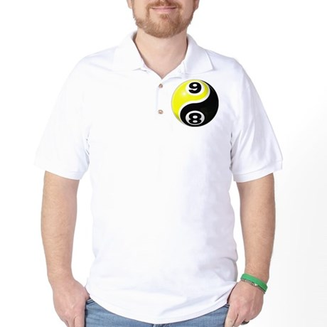 8 Ball 9 Ball Yin Yang Golf Shirt