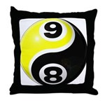 8 Ball 9 Ball Yin Yang Throw Pillow