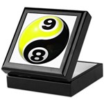 8 Ball 9 Ball Yin Yang Keepsake Box