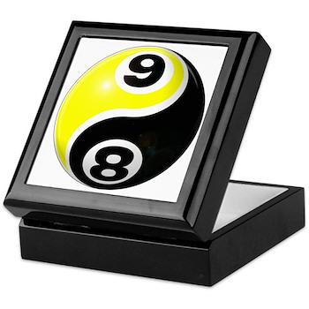 8 Ball 9 Ball Yin Yang Keepsake Box