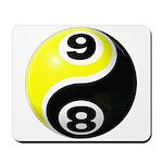 8 Ball 9 Ball Yin Yang Mousepad