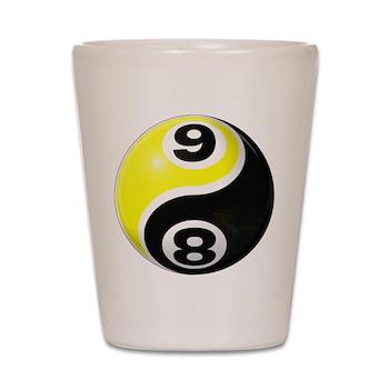 8 Ball 9 Ball Yin Yang Shot Glass