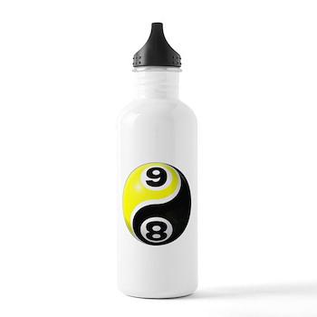 8 Ball 9 Ball Yin Yang Stainless Water Bottle 1.0L