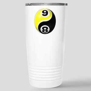 8 Ball 9 Ball Yin Yang Stainless Steel Travel Mug
