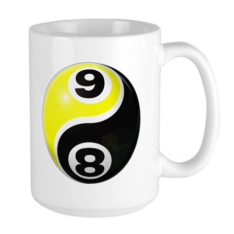 8 Ball 9 Ball Yin Yang Large Mug