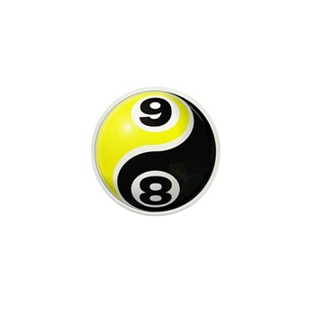 8 Ball 9 Ball Yin Yang Mini Button