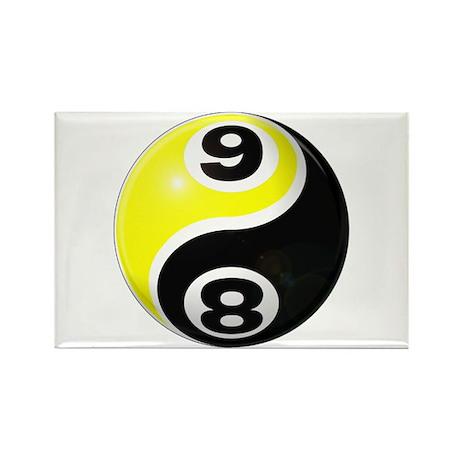 8 Ball 9 Ball Yin Yang Rectangle Magnet (100 pack)
