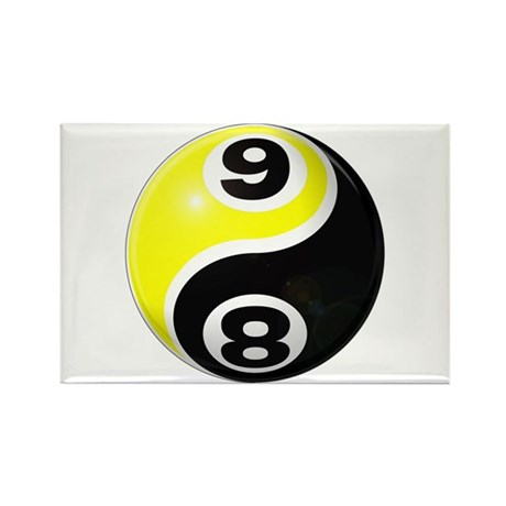 8 Ball 9 Ball Yin Yang Rectangle Magnet (10 pack)