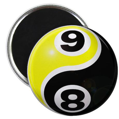 "8 Ball 9 Ball Yin Yang 2.25"" Magnet (100 pack"